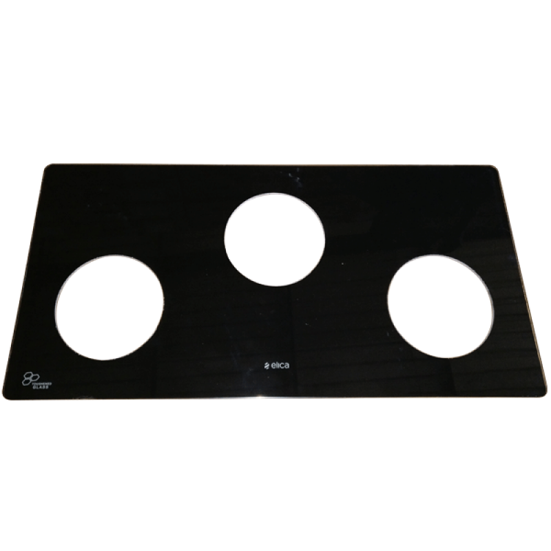 GLASS FOR COOK TOP 3 BUR 690 X 480 SUITABLE FOR ROUND PLATE - CT69GL084
